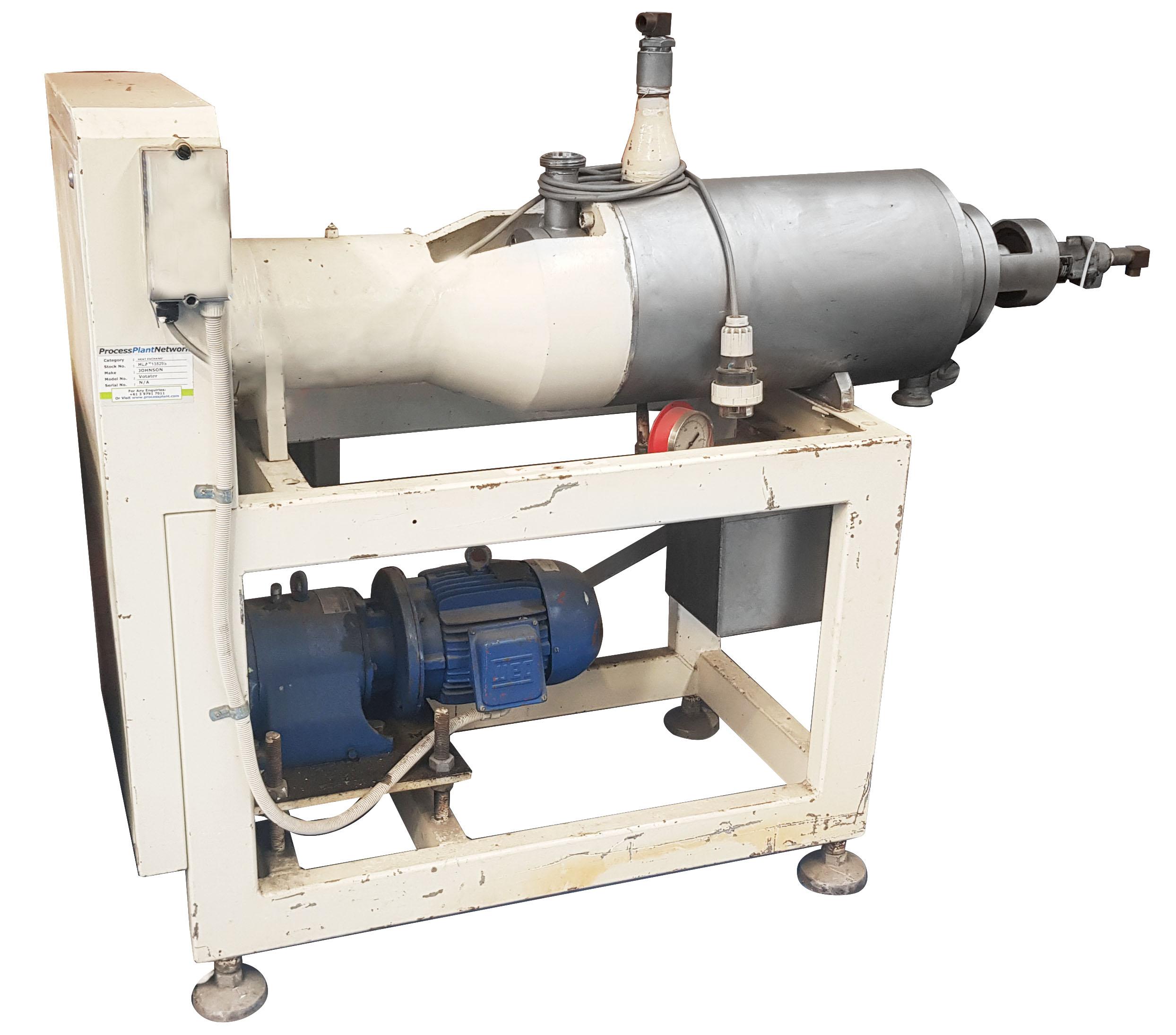 - JOHNSON Horizontal scraped surface heat exchanger