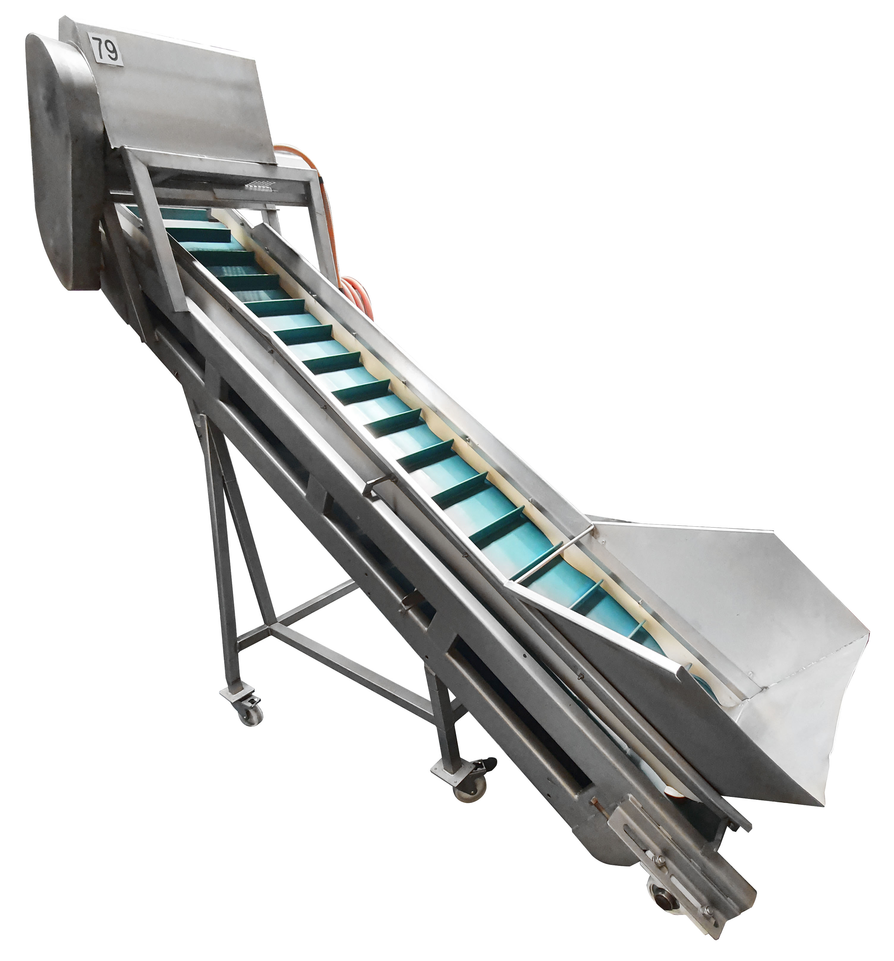 - Australian Made Inclined Conveyor with Hopper (Mobile)